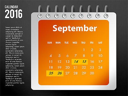 2016 Calendar, Slide 21, 03107, Timelines & Calendars — PoweredTemplate.com