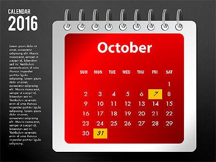 2016 Calendar, Slide 22, 03107, Timelines & Calendars — PoweredTemplate.com