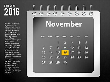 2016 Calendar, Slide 23, 03107, Timelines & Calendars — PoweredTemplate.com