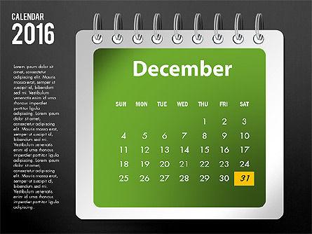2016 Calendar, Slide 24, 03107, Timelines & Calendars — PoweredTemplate.com