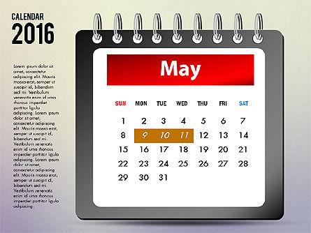 2016 Calendar, Slide 5, 03107, Timelines & Calendars — PoweredTemplate.com