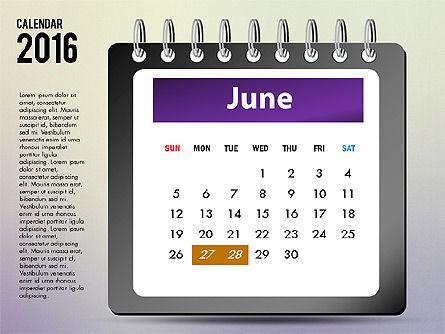 2016 Calendar, Slide 6, 03107, Timelines & Calendars — PoweredTemplate.com