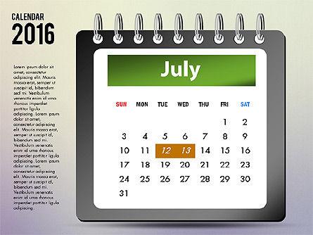 2016 Calendar, Slide 7, 03107, Timelines & Calendars — PoweredTemplate.com
