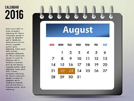 2016 Calendar, Slide 8, 03107, Timelines & Calendars — PoweredTemplate.com