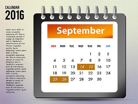 2016 Calendar, Slide 9, 03107, Timelines & Calendars — PoweredTemplate.com