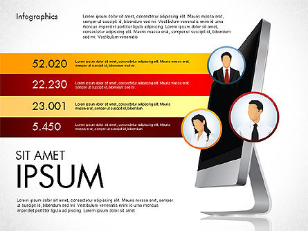 Financial Results Presentation Template, 03111, Presentation Templates — PoweredTemplate.com