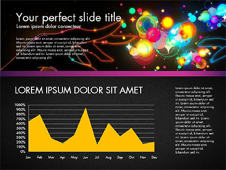 Data Driven Entertainment Presentation Template, Slide 4, 03114, Data Driven Diagrams and Charts — PoweredTemplate.com