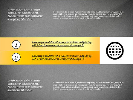 Process with Options and Icons, Slide 10, 03115, Process Diagrams — PoweredTemplate.com