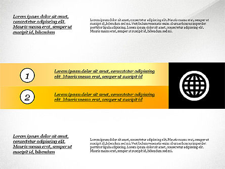 Process with Options and Icons, Slide 2, 03115, Process Diagrams — PoweredTemplate.com