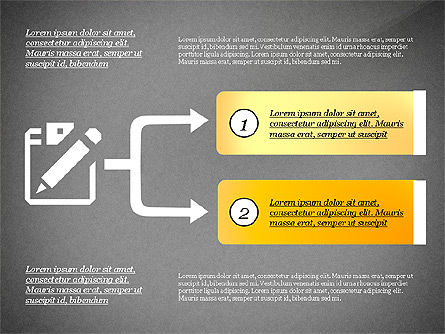 Process with Options and Icons, Slide 9, 03115, Process Diagrams — PoweredTemplate.com