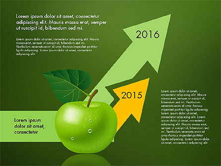 Green Apple Infographics, Slide 10, 03118, Infographics — PoweredTemplate.com