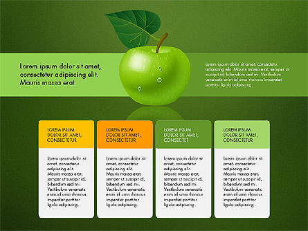 Green Apple Infographics, Slide 12, 03118, Infographics — PoweredTemplate.com