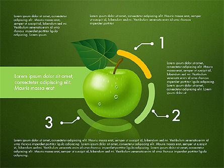 Green Apple Infographics, Slide 13, 03118, Infographics — PoweredTemplate.com