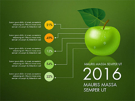 Green Apple Infographics, Slide 14, 03118, Infographics — PoweredTemplate.com