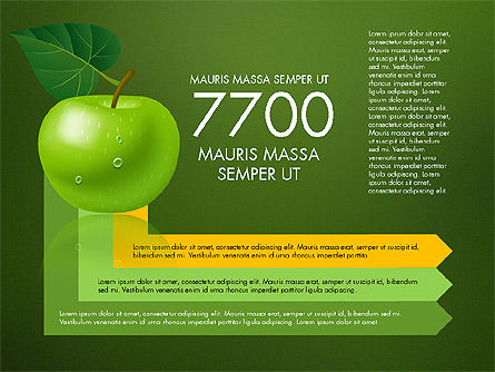 Green Apple Infographics, Slide 16, 03118, Infographics — PoweredTemplate.com
