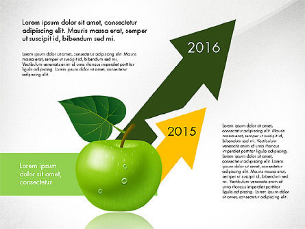 Green Apple Infographics, Slide 2, 03118, Infographics — PoweredTemplate.com