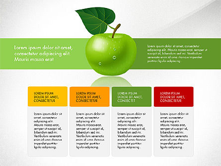 Green Apple Infographics, Slide 4, 03118, Infographics — PoweredTemplate.com