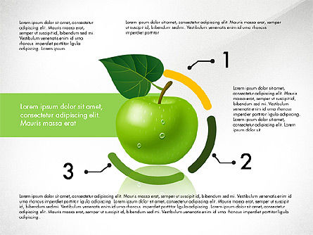 Green Apple Infographics, Slide 5, 03118, Infographics — PoweredTemplate.com