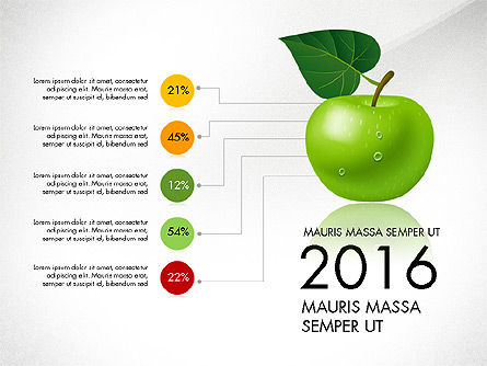 Green Apple Infographics, Slide 6, 03118, Infographics — PoweredTemplate.com