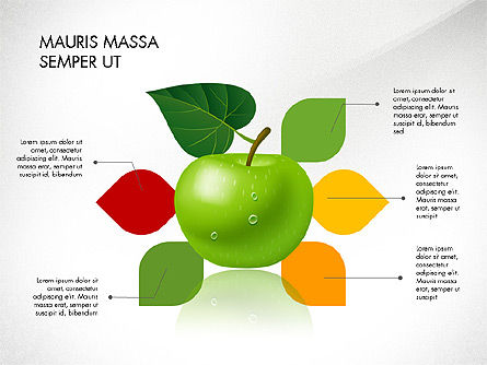 Green Apple Infographics, Slide 7, 03118, Infographics — PoweredTemplate.com