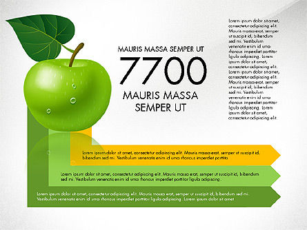 Green Apple Infographics, Slide 8, 03118, Infographics — PoweredTemplate.com