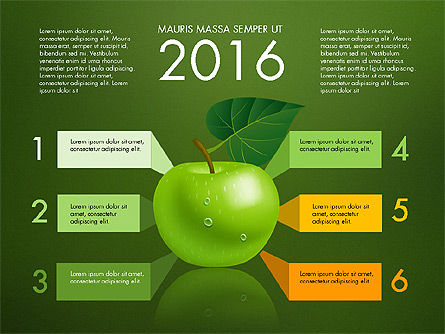 Green Apple Infographics, Slide 9, 03118, Infographics — PoweredTemplate.com