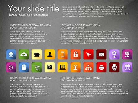 Icons Collection, Slide 10, 03119, Icons — PoweredTemplate.com