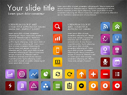 Icons Collection, Slide 12, 03119, Icons — PoweredTemplate.com