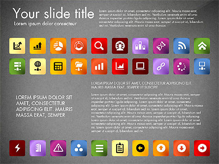 Icons Collection, Slide 13, 03119, Icons — PoweredTemplate.com