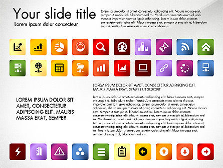 Icons Collection, Slide 5, 03119, Icons — PoweredTemplate.com