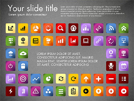 Icons Collection, Slide 9, 03119, Icons — PoweredTemplate.com