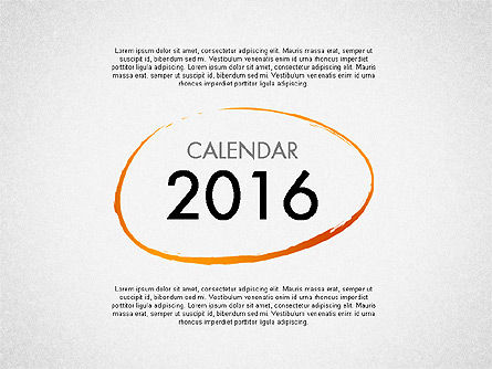 Timelines & Calendars: Calendrier de planification 2016 #03120
