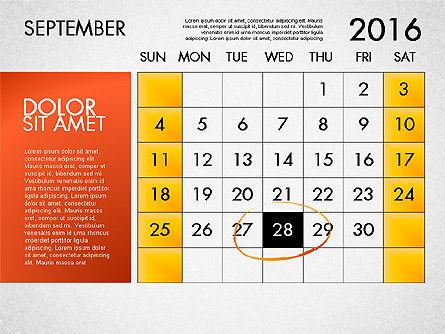 Planning Calendar 2016, Slide 10, 03120, Timelines & Calendars — PoweredTemplate.com