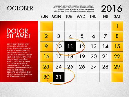 Planning Calendar 2016, Slide 11, 03120, Timelines & Calendars — PoweredTemplate.com