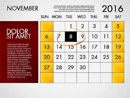 Planning Calendar 2016, Slide 12, 03120, Timelines & Calendars — PoweredTemplate.com