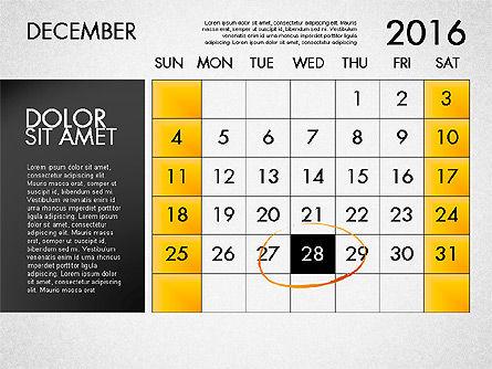 Planning Calendar 2016, Slide 13, 03120, Timelines & Calendars — PoweredTemplate.com