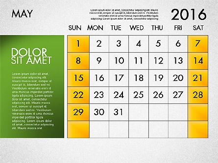 Planning Calendar 2016, Slide 6, 03120, Timelines & Calendars — PoweredTemplate.com