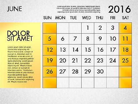 Planning Calendar 2016, Slide 7, 03120, Timelines & Calendars — PoweredTemplate.com