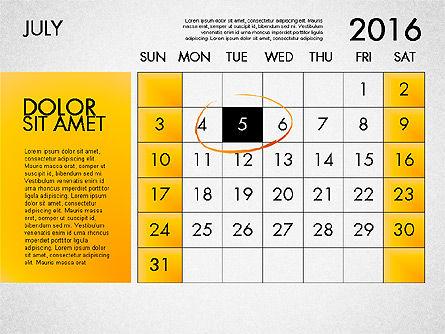 Planning Calendar 2016, Slide 8, 03120, Timelines & Calendars — PoweredTemplate.com