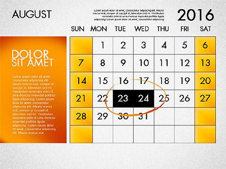 Planning Calendar 2016, Slide 9, 03120, Timelines & Calendars — PoweredTemplate.com