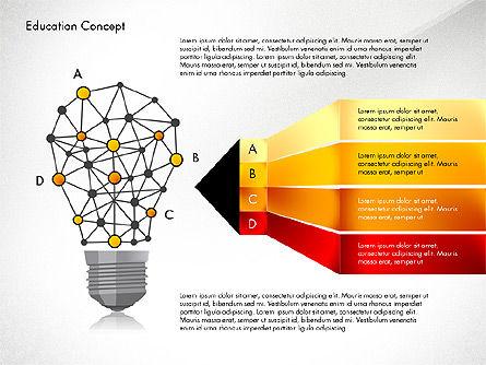 Idea Infographics Presentation Concept, 03121, Presentation Templates — PoweredTemplate.com