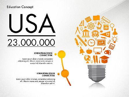 Idea Infographics Presentation Concept, Slide 2, 03121, Presentation Templates — PoweredTemplate.com