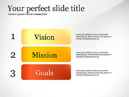 Vision Mission Goals Action Plan Diagram, 03124, Business Models — PoweredTemplate.com