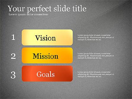 Vision Mission Goals Action Plan Diagram, Slide 9, 03124, Business Models — PoweredTemplate.com