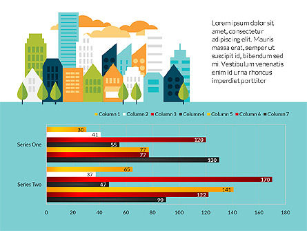 City Infographics with Data Driven Charts, Slide 2, 03125, Infographics — PoweredTemplate.com