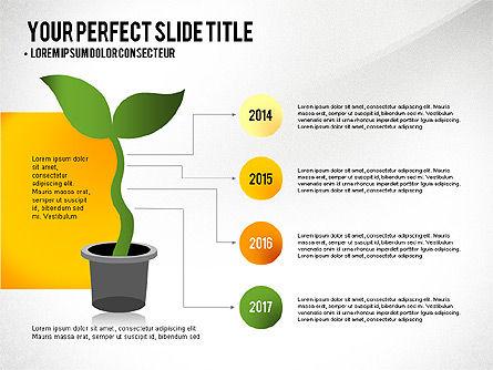 Growth Infographics Concept, Slide 3, 03126, Infographics — PoweredTemplate.com