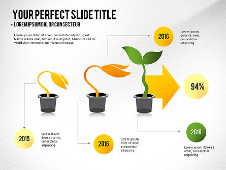 Growth Infographics Concept, Slide 4, 03126, Infographics — PoweredTemplate.com