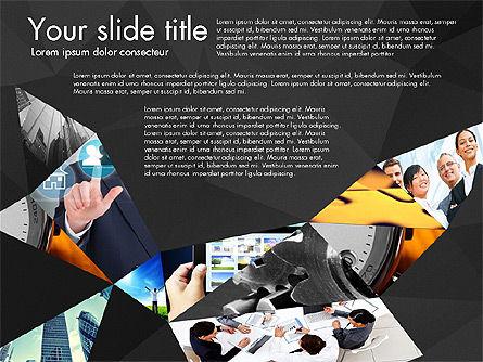 Presentation with Polygons, Slide 10, 03130, Presentation Templates — PoweredTemplate.com