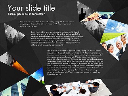 Presentation with Polygons, Slide 11, 03130, Presentation Templates — PoweredTemplate.com