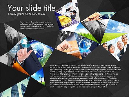 Presentation with Polygons, Slide 12, 03130, Presentation Templates — PoweredTemplate.com